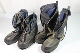 2 Pairs of Post WW2 Felt Lined Cold Weather Boots. Possibly Commercial.