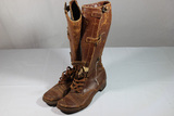 US WW2 Cavalry Or Tanker Boots. Sze 11A Heavily Worn Fragile.