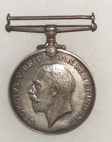 WW1 Georgivs V Britt: OMN: REX ET IND : IMP Medal-Named