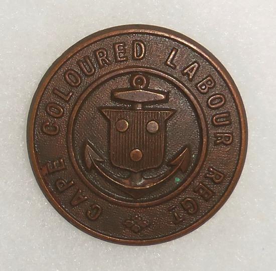Scarce WW1 Cape Coloured Labor Regt Cap Badge