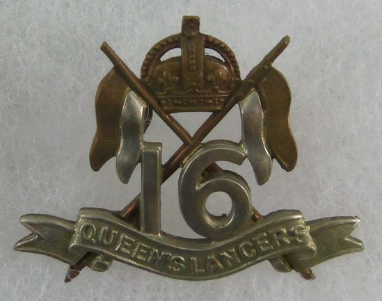 Pre-1905 British Army 16th Queen's Lancers Cap Badge