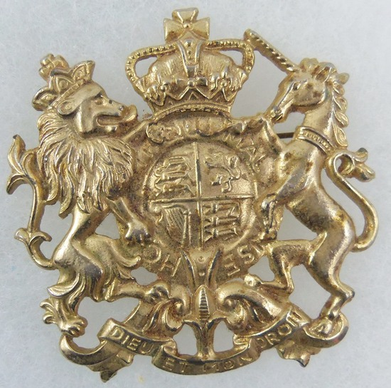 Vintage Coat of Arms of the United Kingdom of Great Britain and Northern Ireland Brooch
