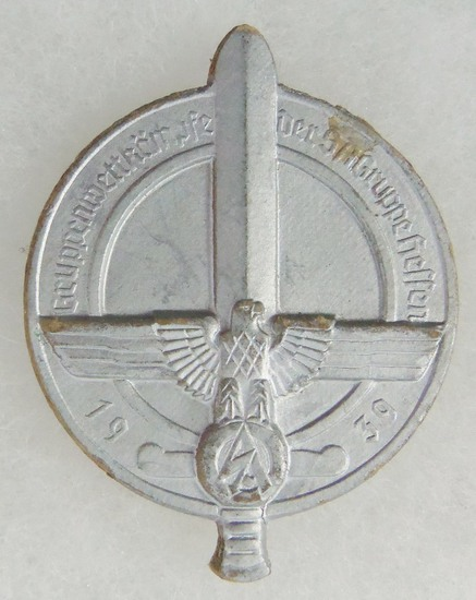 Gruppenwestkampfe Der SA Gruppe Hessen Badge (Group competitions of the SA Group Hessen 1939)