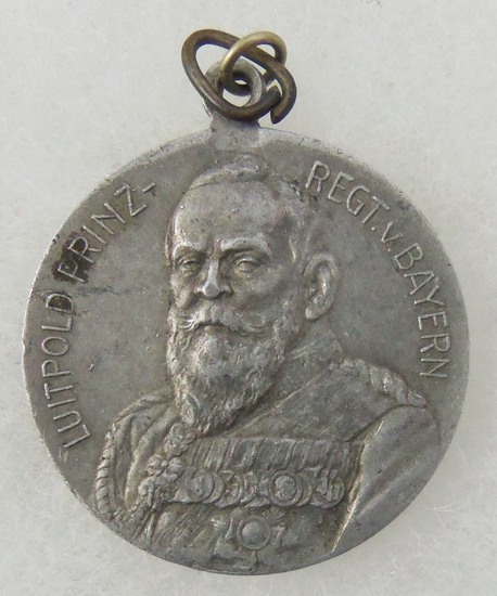 Germany Bavaria 1911 Prince Regent Luitpold 90th Birthday Commemorative Pendent