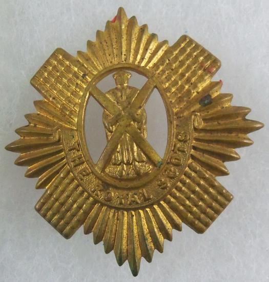 1902 The Royal Scots Glengarry Cap Badge