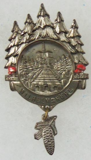 Kaiser Wilhelm's Castle Souvenir Pin