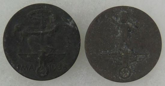 2 pcs. German May Day Tinnies