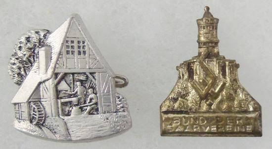 2 pcs. Interwar Bund der Saarvereine Souvenir Pins