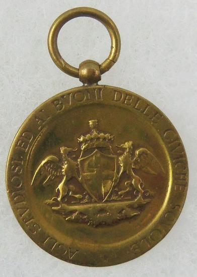 Pre-WW1 Italian Scholars Medal Pendant