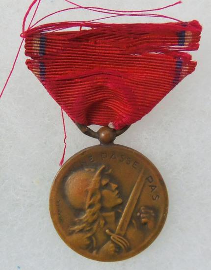 WW1 France Verdun Medal 1916