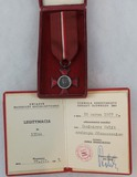 Polish Janka Krasickiego Cross 2nd Grade Silver Decoration Cased/Award Document - Named