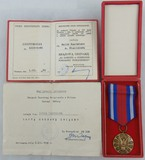 Polish Bronze Merit Protection of Public Order/Award Document/Temporary ID Card - Named