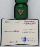 Poland Badge for Merits of Tourism with Award Document