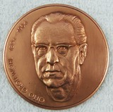 Rare DDR East German Otto Grotewohl (First Prime Minister) Bronze Table Medallion