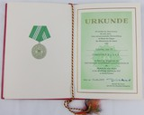 DDR East GermanVolkspolizei (VoPo) 10 Year Award Document/Presentation Folder
