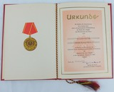 DDR East GermanVolkspolizei (VoPo) 20 Year Award Document/Presentation Folder