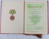 DDR East German 1972 Volkspolizei Meritorious Service Silver Award Document/Presentation Folder