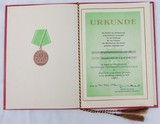 DDR East German 1974 Volkspolizei Meritorious Service Award Document/Presentation Folder