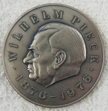 DDR East German Wilhelm Pieck Silver Medallion-1st President of the DDR