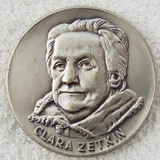 DDR East German Clara Zetkin Table Medallion