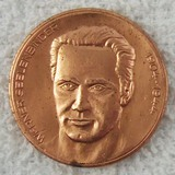 DDR East German Werner Seelenbinder Bronze Table Medallion