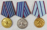 3 pcs. Bulgarian People's Army 10, 15, 20 Years Service Medals