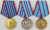 3 pcs. Bulgarian Interior Ministry 10, 15, 20 Years Service
