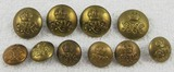 10 pcs. WWII British Tank Regiment Set of Buttons