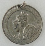 King George VI and Queen Elizabeth Coronation Medallion - Westminister Abbey