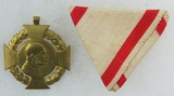 Pre-WW1 Kaiser Franz Joseph I 60th Crowned Jubilee Medal w/ Tri-Folded Ribbon