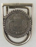 1853-1867 Brazilian 500 Reis Coin Money Clip