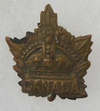 WW1/WW2 Canadian Crown Maple Leaf Military Cap Badge