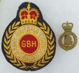 2 pcs. Royal Bahamas Police Cap Badge/Grand Bahama Country Club Breast Patch