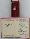 Polish Manager of Major Union Metalworkers Cased Stick Pin with Membership Card - Named