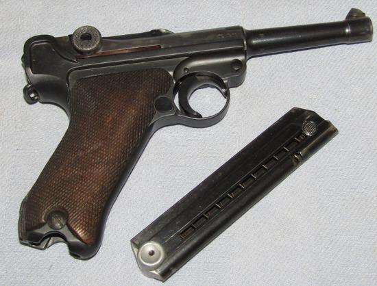 1940 Mauser Code 42 Luger-Frame Is Import Stamped-Original Finish Except Frame-Excellent  Shooter!