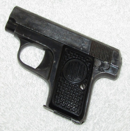 "6.35 Cal. Pocket Pistol-1943 Dated ""F. DUSEK, OPOTSCHNO"" Preferred By German Officers As 2nd Weapon"