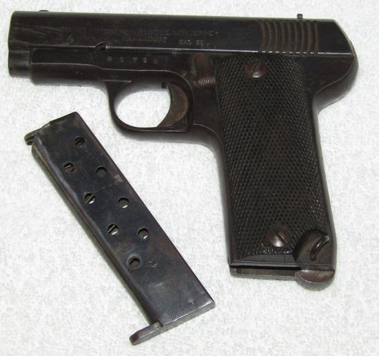 "7.65 Cal. M1915 ""Paramount"" Automatic Pistol W/Magazine-Spanish Model"