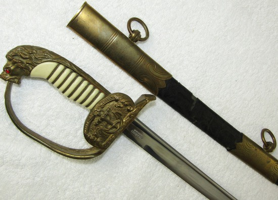Pre/Early WWII Kreigsmarine Officer's Sword With Scabbard