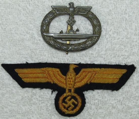 2pcs-Kriegsmarine U-boat Badge-EM/NCO Breast Eagle