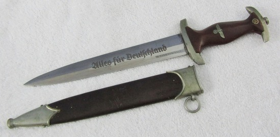 Early SA Dagger With Scabbard-Sturm/Unit Stampings On Cross Guard/Scabbard-Tank Destroyer Vet.