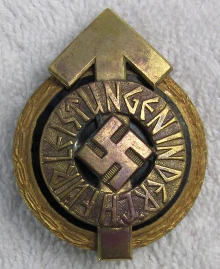 Hitler Youth Golden Leader's Sports Badge-Numbered-Gustav Brehmer Maker
