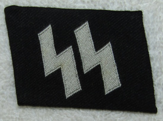 RZM Embroidered Waffen SS Collar Tab For Enlisted