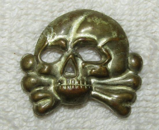 """Early Allgemeine SS """"Danziger"""" Visor Cap Skull Device"""