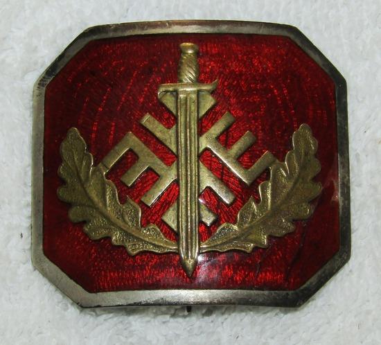 Rare Pre/Early WW2 Latvian Civil Guard Officer's Badge/Belt Buckle-Waffen SS Latvian Volunteer?