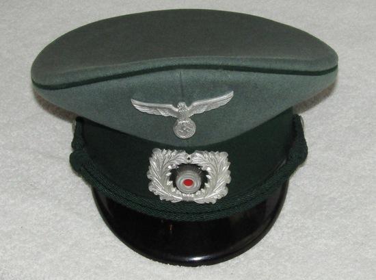 WW2 German Customs NCO Visor Cap-Robert Lubstein/EREL