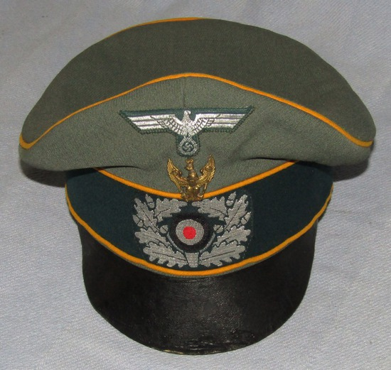 "Rare WW2 Period German Cavalry Officer's ""Alte Arte"" Crusher Visor Cap W/Traditions Badge"