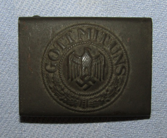 Early WW2 Heer Belt Buckle For Enlisted With Field Gray Combat Finish