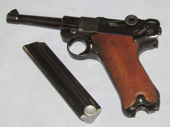 1938 S/42 Luger-With Matching Numbers-Finish Has Been Restored