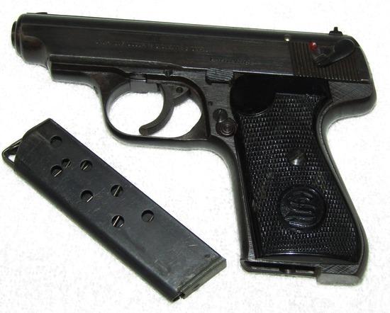 Scarce Wehrmacht Issue (3rd Variation)  J.P. Sauer & Sohn 7.65 Cal Pistol