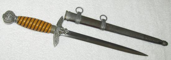 Luftwaffe 2nd Model Officer's Dagger W/Scabbard-E.u.F Horster-Vet Bring back
